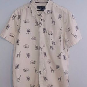 21MEN Safari Button UP Shirt Medium